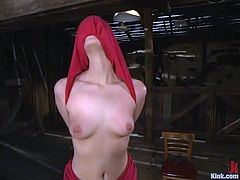 Stunning blonde hottie Kimberly Kane is having fun with Mark Davis in a barn. Mark restrains Kim, beats her with a stick and then drills her sweet holes like never before.