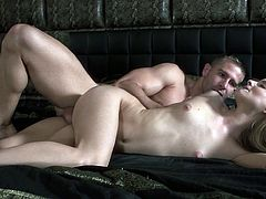 Cayenne Klein is receiving a passionate fuck from her lover. He has big cock and sticks it right inside for her tight bald pussy like a champ!