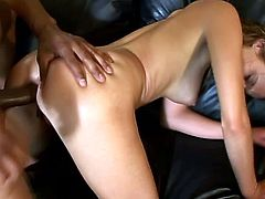 She spreads her legs and lets him play with her pussy first. Then Poppy Morgan sucks his cock and gets balled deep in her tight muff!
