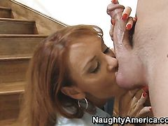 Chad Alva uses his throbbing sausage to bring Janet Mason to the edge of nirvana