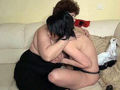 Watch this hottie getting her wet pussy eaten by her horny and old nanny who is also fat as fuck in Old Nanny sex clips.