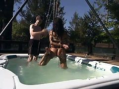 Water bondage is sub category of BDSM and it is way dangerous and harming thing to experience. Mandy get tied up and immersed in the pool