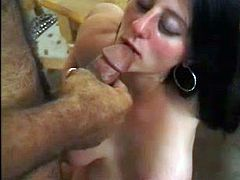 Beautiful pregnant brunette Kora pleases her man with a great blowjob. Then she takes the dude's schlong into her smooth pussy and gets it fucked doggy style and in other positions.