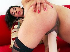 Spoiled dark head chick with perky tits and slick pussy is performing steamy solo masturbation porn scene. She plays with her pussy hole poking the hole with smooth sex toy. Arousing XXX video presented by Mofos Network.