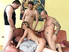 Mike Angelo plays hide the salamy with Alice Romain in anal action