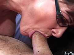 She masturbates her hairy pussy. Then she sucks his cock and they have oral petting in 69 pose. Then she gets her hairy kitty fucked in steamy Fame Digital xxx video!