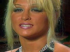 Smoking hot famous porn queen Jill Kelly with awesome body and great oral skills gets filmed while making dudes cum in her mouth during mind blowing foursome filmed in close up.