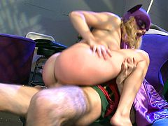 Batgirl's secret identity, Lexi Belle, gets hot and horny spying on Joker with Robin! She decides to take that time and get some hardcore fucking in!