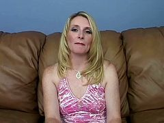 Nasty cougar Ashley is getting boned by a gifted dude for money.This dirty mom sucked that big stiff cock wildly and deeply before he ruined her cunt.