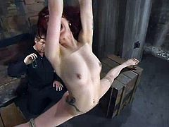 This sizzling and smoking hot lust Pinky Lee is under some severe torture. She gets suspended and something vibrating makes her feel orgasm.