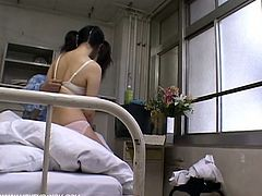 These is a spy cam in the every room, but this young nurse has no idea. She rides one of her patients and gets filmed.