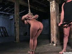Mark Davis always lures smoking hot babes and today he is going to abuse and fuck an outstanding slave Rachel Starr!