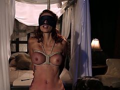 Watch an alluring redhead slut getting tied up by her naught brunette mistress before she makes use of her body as she wishes.