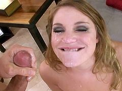 Aurora Snow likes feeling such tasty dick stroking deep down her mouth in wild oral show