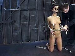 What a smoking hot and exotic honey Nadia Styles is! Damn, babe gets tortured pretty hard and that looks so fucked up!