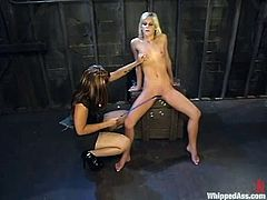 DragonLily gets naughty with Courtney Simpson in a hot BDSM clip