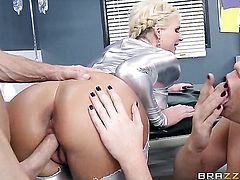 Johnny Sins is one hard-dicked guy who loves fucking Phoenix Marie  Alison Tyler with giant boobs