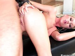 Madison Scott satisfies guys sexual needs and then gets painted with sticky nectar