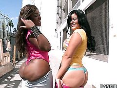 Chachita Diamond Mason with big booty satisfies her sexual needs with Candy in lesbian action