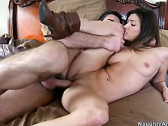 Victoria Lawson with small ass and trimmed snatch gets penetrated literally to death by Charles Dera