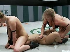 Dia Zerva, DragonLily, Holly Heart and Jessie Cox fight with each other on tatami and get horny. Then they get horny and begin to touch each other's tits and coochies.