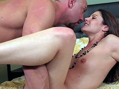 Samantha Ryan is a lovely skinny milf with tight pussy ad small boobs. Nude dark haired girl gievs great blowjob to lucky man and gets her snatch banged. Samantha Ryan is so fucking sexy!