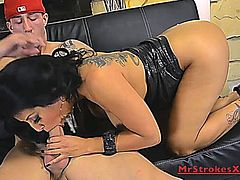 Kiara Mia takes a big white cock