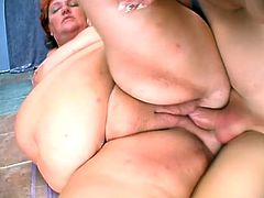 This BBW lady has never had such a wild sex ever in her life before! She gets naked and this dude is going to poke her snatch with passion!