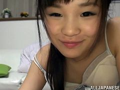 Kinky Japanese girl is gonna please her man. She shows him her plump body and then takes his wang into her mouth and sucks it till it explodes with jizz in her mouth.