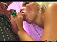 Bosomy blonde bride gives amazing blowjob to her partner and rides his face getting her soaking cunt eaten. Then one brunette bitch joins the action getting her big boobies licked.