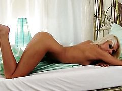 Ivana Sugar with tiny tities and hairless twat spends her sexual energy alone using her fingers
