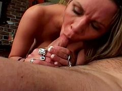 Gorgeous blonde chick with huge tits and great ass has her tight pussy licked and fucked hard by horny guy.Watch this busty blond milf Bridgette Monroe gets her huge tits and pussy fucked hard by old man.