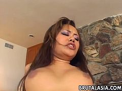 asian slut gets her tight asshole pounded