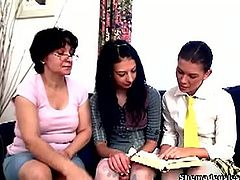 Check out these horny teen chicks into some really hardcore action. This is their first time when they are involved into some hardcore lesbian sex. They like it so much.