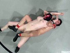 Princess Donna Dolore, Isis Love, Syd Blakovich and J. J. Ronan are having a catfight on tatami. The lesbians wrestle with each other furiously and then the losers get brutally fucked by the winners.