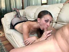 old fucker is very horny when some slut touch his hard cock with her feet, she jerks his cock while he licks her fingers at same time.