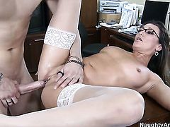 Michelle Lay finds her pussy full of love juice after fucking with Xander Corvus