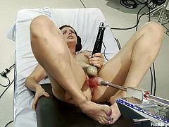 Gorgeous and slender babe Bobbi Starr gets assisted by Dragon Lily for a nice machine pleasures. The way her orgasm sounds is so divine!