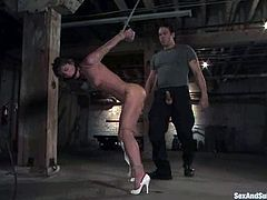 Sexy milf Naomi allows Steven St. Croix bind her in a basement and play with her beautiful body. Steve plays with Naomi's snatch and then fucks it remarcably well from behind.