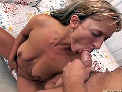Check out this hot and sexy blonde babe who loves to get herself some wild anal sex when she is horny. Really feel that cock up her back door.