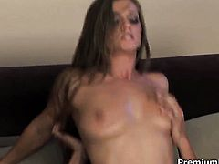 Rita Faltoyano with gigantic breasts gets dicked in the deadeye the way she loves it