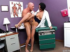Johnny Sins is one hard-dicked guy who loves screwing Amber Cox