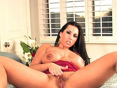 Lusty Brianna Jordan amazes with her voluptuous forms during sexy and naughty solo