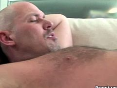 Hot Monica Sweetheart shows great oral skills then gets on the top of his big stiff cock and rides it like a slut for a nice cumshot! The guy eats out her pussy then bangs the hell out of her!