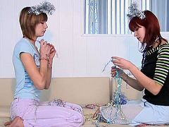 These tight teen girls experiment with each other! No one knows how to work a sexy teen slit like another sexy fit teen!