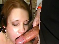 Lusty babe enjoys more than one cock to stimulate her desires in gang bang scene