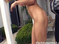 Stunning milf Persia is about to get her snatch stuffed by a big black dong. She wastes no time and invites him to her cunt for some really nasty pumping till an orgasm!