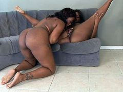 Just look at these two kinky and sexy ebony chicks. Ladies got some huge asses and tits to please each other with! Nice ebony lesbian!