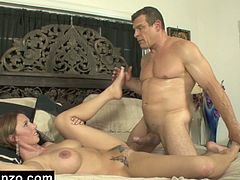 Best Gonzo brings you an amazing free porn video where you can see how a muscular stud bangs the tattooed brunette milf Destiny Porter very hard into a spectacularly intense orgasm.