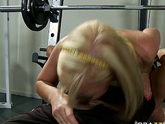 Watch this hto and extremely sexy blonde babe Ally Kay getting banged sin her backholes at the gym in Brazzers Network sex clips.